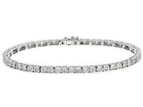 White Diamond 10k White Gold Bracelet 1.95ctw