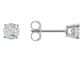 White Diamond 14k White Gold Earrings .65ctw