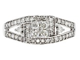 White Diamond 10k White Gold Ring .48ctw