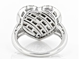 White Diamond Rhodium Over Sterling Silver Ring .96ctw