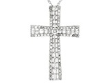 White Diamond Rhodium Over Sterling Silver Pendant 1.08ctw