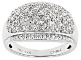 White Diamond Rhodium Over Sterling Silver Ring .25ctw
