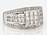 White Diamond 14k White Gold Ring 1.20ctw