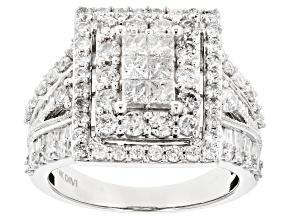 White Diamond 14k White Gold Ring 2.50ctw