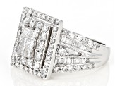 White Diamond 14k White Gold Ring 2.50ctw