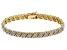 White Diamond Yellow Gold Over Brass Bracelet 1.00ctw