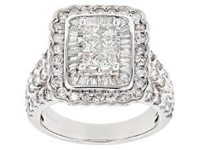 White Diamond 14k White Gold Ring 2.60ctw