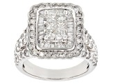 White Diamond 14k White Gold Ring 2.60ctw