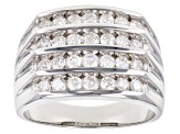 White Diamond 10k White Gold Gents Ring 1.50ctw