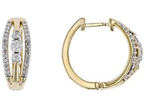 White Diamond 14k Yellow Gold Earrings .50ctw