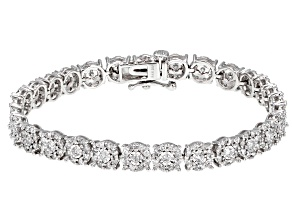 White Diamond 14k White Gold Bracelet 3.05ctw