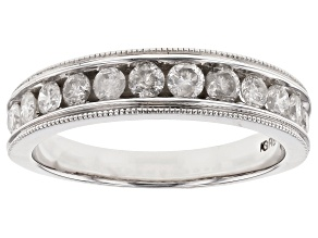 White Diamond 14K White Gold Ring .75ctw