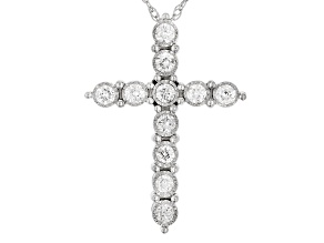 White Diamond 10k White Gold Pendant .25ctw