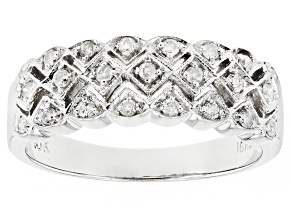 White Diamond 10K White Gold Ring .25ctw