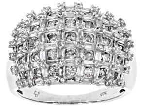 White Diamond 10k White Gold Ring 1.68ctw