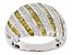 Yellow and White Diamond Rhodium over Sterling Silver Ring 1.00ctw