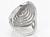 White Diamond Rhodium over Sterling Silver Ring 1.19ctw