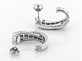 White Diamond 10k White Gold Earrings .80ctw