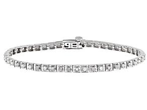 White Diamond Rhodium over Sterling Silver Bracelet 1.15ctw