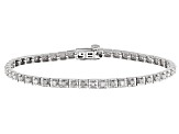 White Diamond Rhodium over Sterling Silver Bracelet 1.15ctw