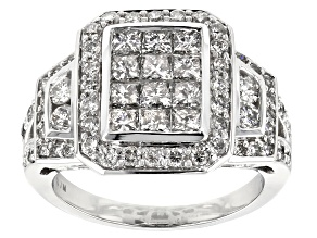 White Diamond 14K White Gold Ring 2.00ctw