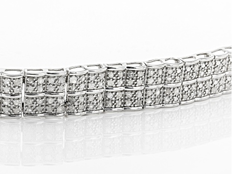 White Diamond Rhodium over Sterling Silver Bracelet 2.00ctw