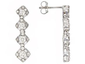 White Diamond 14K White Gold Earrings 1.00ctw