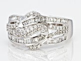 White Diamond 10k White Gold Ring 0.62ctw