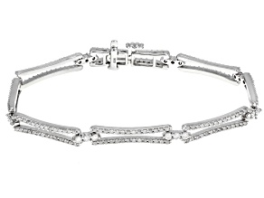 White Diamond 14k White Gold Bracelet 2.00ctw