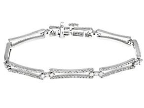 White Diamond 14k White Gold Bracelet 2.00ctw