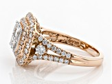 White Diamond 14K Rose Gold Ring 2.00ctw