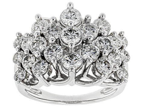 Jtv Diamond Rings >> White Diamond 10k White Gold Ring 3 00ctw