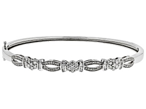 White Diamond 10k White Gold Bracelet 0.92ctw