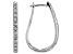 White Diamond 10k White Gold Hoop Earrings 1.00ctw