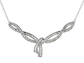 White Diamond 10K White Gold Necklace 0.50ctw