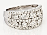 White Diamond 14K White Gold Ring 1.00ctw