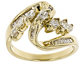 White Diamond 14K Yellow Gold Ring 1.50ctw