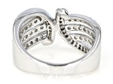 White Diamond Rhodium Over Sterling Silver Ring 0.60ctw