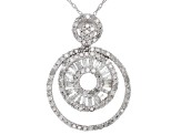 White Diamond 10k White Gold Pendant 0.90ctw