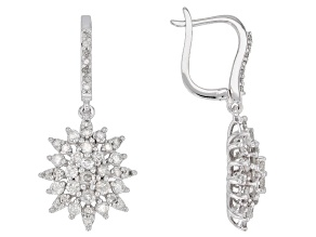 White Diamond 10K White Gold Earrings 1.50ctw