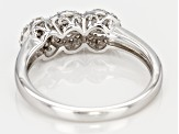 White Diamond Rhodium Over Sterling Silver Ring 0.23ctw