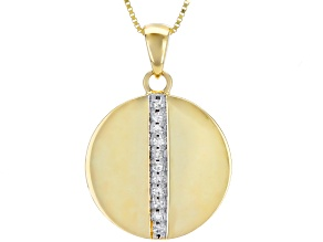 White Diamond Accent 10k Yellow Gold Pendant