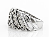 White Diamond Rhodium Over Sterling Silver Ring 0.25ctw