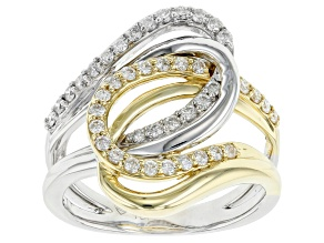 White Diamond Two-Tone Gold Ring 0.50ctw