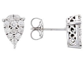 White Diamond 10k White Gold Earrings .50ctw