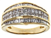 White Diamond 14k Yellow Gold Ring 1.35ctw