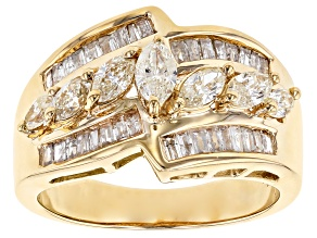 White Diamond 14k Yellow Gold Ring 1.25ctw