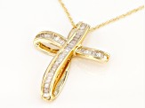 White Diamond 14k Yellow Gold Pendant 0.50ctw