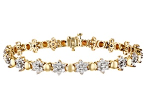White Diamond 14k Yellow Gold Bracelet 3.00ctw