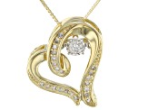 White Diamond 10k Yellow Gold Pendant 0.15ctw